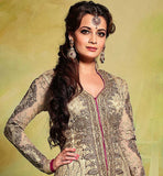 2 DIA MIRZA LATEST HANDWORK ANARKALI SALWAR KAMEEZ  STYLISH  BAZAAR B