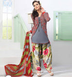 GREY SALWAR SUIT WITH EMBROIDERED JACKET / KOTI FOR SMART LOOK