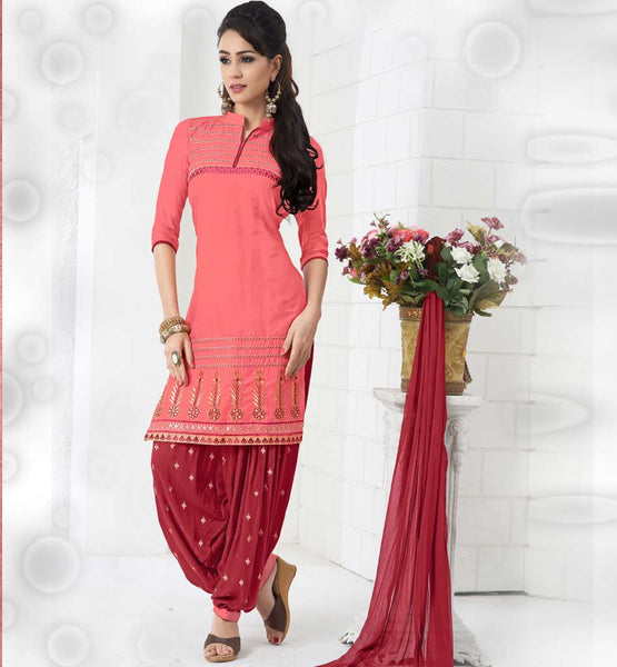 INDIAN DESIGNER COTTON PATIALA SALWAR KAMEEZ SUITS BY STYLISH BAZAAR