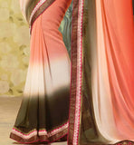 INDIAN CELEBRITY ZARINE KHAN HOT NEW GEORGETTE PARTY WEAR SAREE