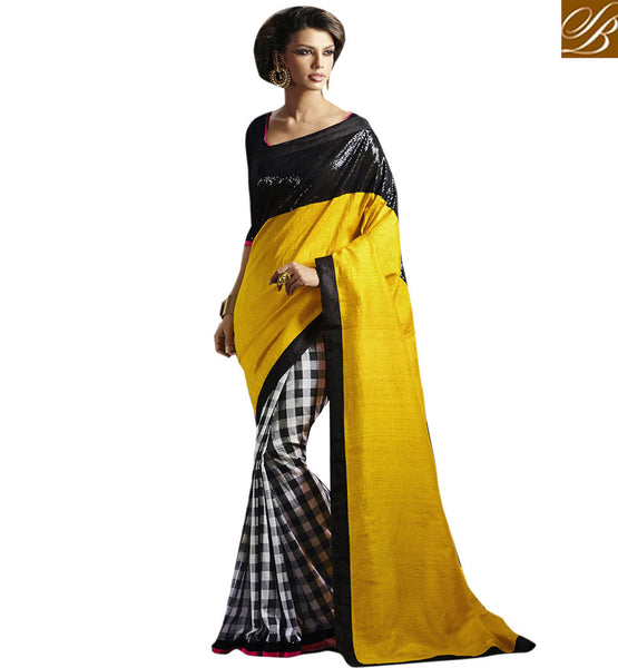 STYLISH BAZAAR PRESENTS FINE DESIGNER OCCASION WEAR SARI DESIGN VDCHP30010