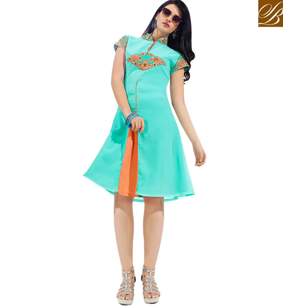 FROM THE HOUSE  OF STYLISH BAZAAR TRENDY MID SLIT KURTI FOR SPECIAL OCASSIONS VDSCH3001