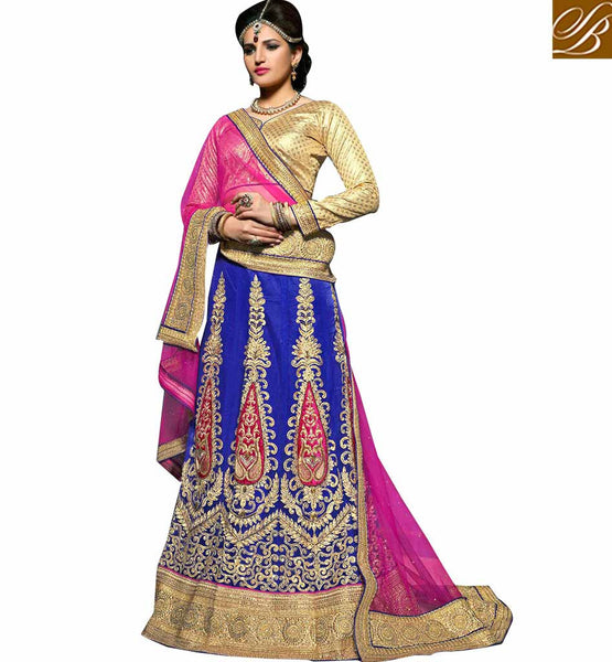 FROM THE HOUSE  OF STYLISH BAZAAR AWESOME 3 PIECE LEHENGA CHOLI DESIGN KLWD3001
