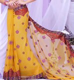 PLEASANT YELLOW PARTY WEAR SAREE RTBRE3001