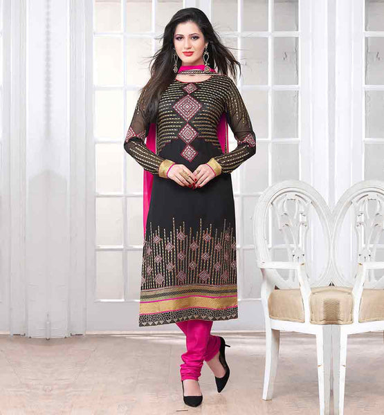 NEW FSAHOPN PARTY WEAR SALWAR KAMEEZ DESIGNS ROUND NECK KAMEEZ IN GOLD AND SILVER EMBROIDRY WORK