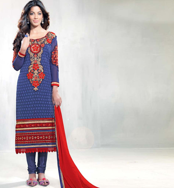 Georgette Mugha Godse fashion Pakistani style salwar suit bollywood clothing at stylishbazaar