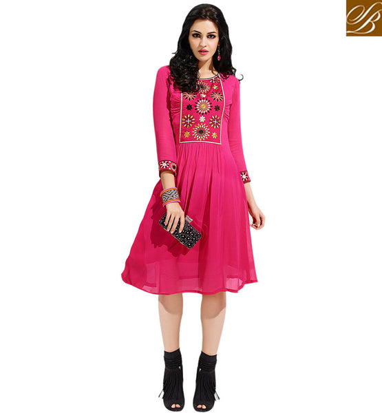 BROUGHT TO YOU BY STYLISH BAZAAR EXOTIC ASYMMETRIC STYLE KURTI DESIGN VDSCH3002