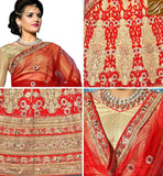A STYLISH BAZAAR PRESENTATION WONDERFULLY DESIGNED GHAGRA CHOLI DESIGN FOR WEDDINGS KLWD3004
