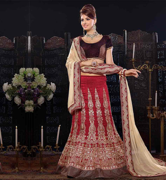 TRENDY WEDDING WEAR GHAGRA CHOLI WITH DUPATTA ONLINE SHOPPING INDIA