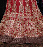 photograpgh heavy detailing on Indian wedding lehenga choli