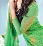 3005 GREEN MUGDHA GODSE GEORGETTE STRAIGHT SALWAR SUIT STYLISHBAZAAR SHOP ONLINE BEST ECOMMERCE SHOPPING WEBSITE