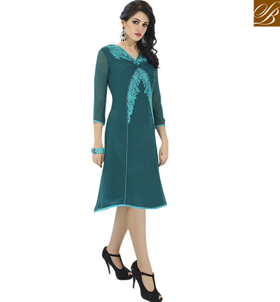 A STYLISH BAZAAR PRESENTATION ROYAL PARTY WEAR DESIGNER KURTI DESIGN VDSCH3005