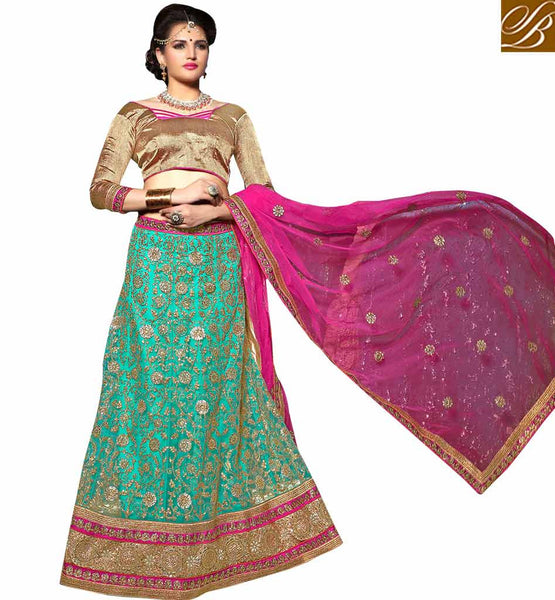 STYLISH BAZAAR INTRODUCES SUPERB DESIGNER WEDDING WEAR LEHENGA CHOLI DESIGN KLWD3005