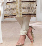 OFF WHITE  SALWAR KAMEEZ WITH ABSTRACT PRINT AND SILVER BROWN EMROIDERY BUTTA WORK WITH MIDDLE LINE PATH WORK PARTY WEAR SALWAR KAMEEZ ONLINE FOR WOMEN VDJEN3006