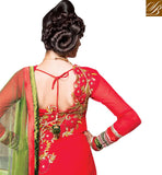LATEST ANARKALI SALWAR KAMEEZ DRESS WITH EMBROIDERED BACK SIDE
