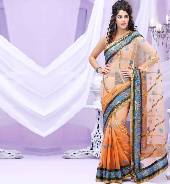 GLAMOROUS SHADED PARTY WEAR SAREE RTBRE3006