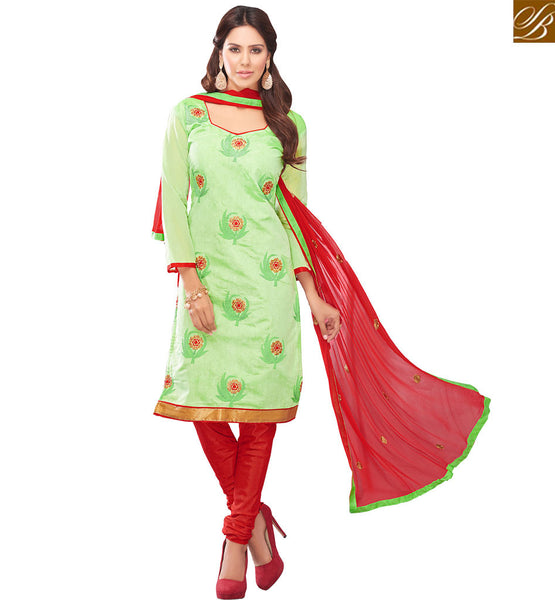 STYLISH BAZAAR INCREDIBLE FLOWERY PATTERN SALWAAR KAMEEZ DESIGNER SUIT VDRAS3006