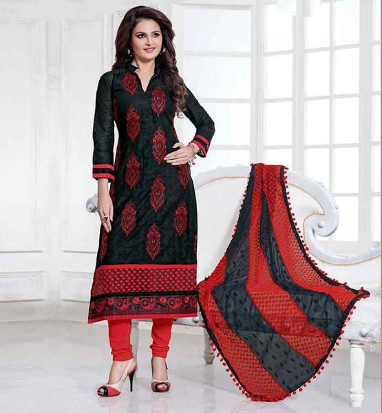 CELEBRITIES IN SALWAR SUITS NEW COOL PATTERNS STYLISH MONICA BEDI KNEE LONG DRESS WITH DUPATTA