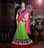 INDIAN ETHNIC STYLE NET GHAGRA WITH DESIGNER VELVET CHOLI & DUPATTA
