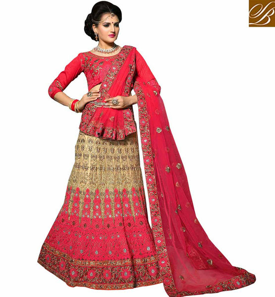 FROM THE HOUSE  OF STYLISH BAZAAR EXCEPTIONALLY WELL DESIGNED MARRIAGE WEAR LEHENGA CHOLI DESIGN KLWD3007