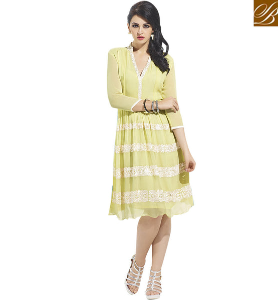 GLAMOROUS DESIGNER KURTI DESIGN FOR PARTIES VDSCH3007