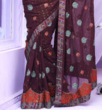 ENCHANTING BROWN PARTY WEAR SAREE RTBRE3007