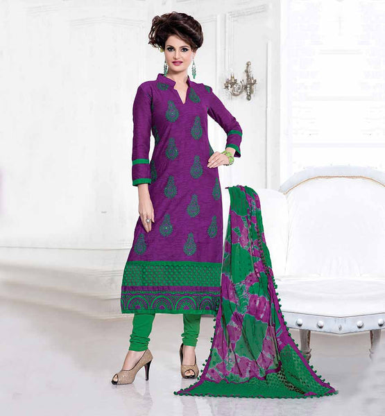 CELEBRITY SALWARS STYLE BASIC CHURIDAR LOOK GLAMOROUS GIRL MONICA BEDI DRESS WITH PRINTED DUPATTA