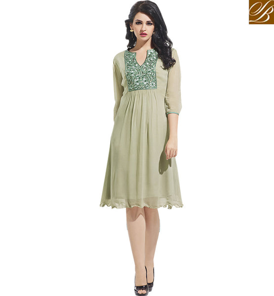 FROM STYLISH BAZAAR ATTRACTIVE DESIGNER PARTY WEAR KURTI VDSCH3009