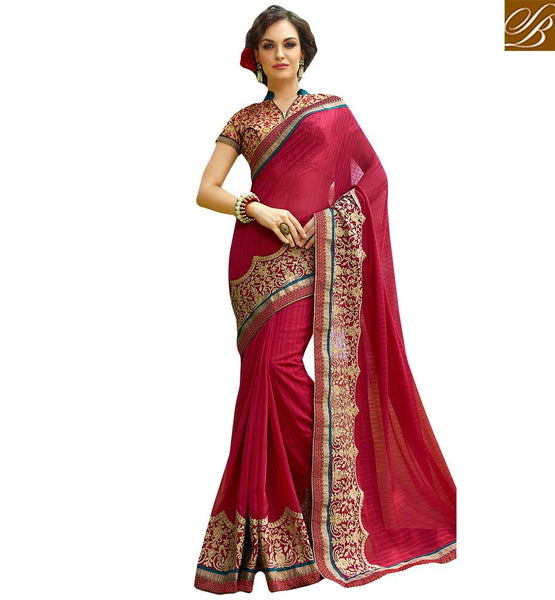 ROYAL DESIGNER SAREE DESIGN FOR PARTIES KESMAN3009 BY STYLISH BAZAAR