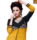 DELIGHTFUL MID SLIT DESIGNER PARTY WEAR KURTI DESIGN RTBLM301