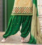 CREAM PATIALA SALWAR SUIT