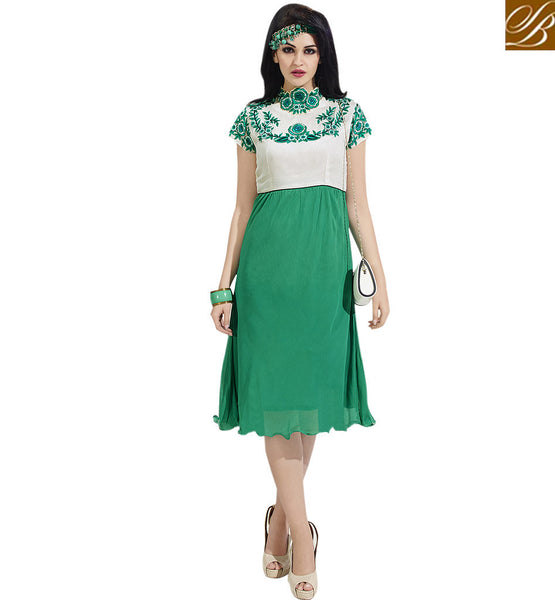 FROM THE HOUSE  OF STYLISH BAZAAR STUNNING TWO SHADED PARTY WEAR KURTI DESIGN VDSCH3010