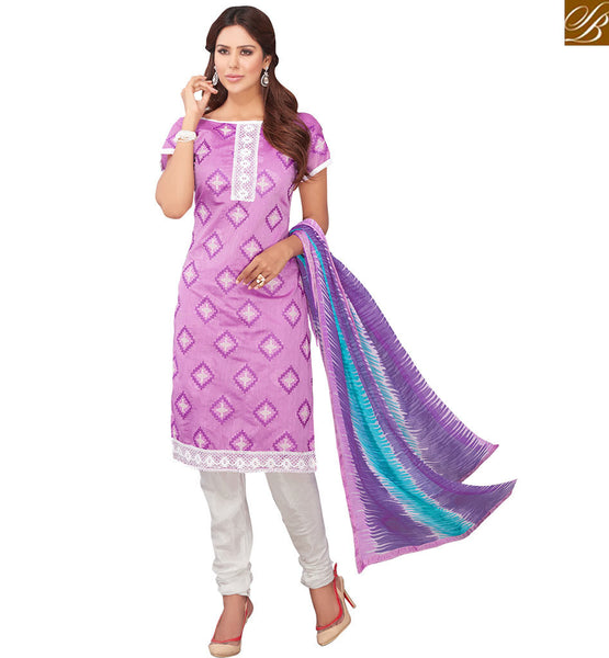 STYLISH BAZAAR GRAND KARACHI STYLE DESIGNER PURPLE SUIT VDRAS3010