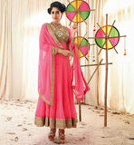 PEPPY PINK ANARKALI FROM THE MOVIE HOLIDAY VSHD3010 Holiday Dresses, Eid2014, Designer Holiday Dresses, salwar kameez Bollywood - stylishbazaar anarkali shopping online, anarkali suit online shopping, anarkali dress online shopping, online anarkali dresses shopping, online anarkali suits shopping