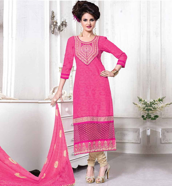 BOLLYWOOD ACTRESS SALWAR KAMEEZ GET ONLINE INDIA GORGEOUS BEAUTY MONICA BEDI IN PINK DRESS WITH CONTRAST SALWAR