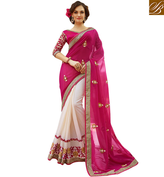 RAVISHING DESIGNER SAREE FOR PARTIES KESMAN3011 BY STYLISH BAZAAR