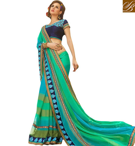 BROUGHT TO YOU BY STYLISH BAZAAR SPLENDID DESIGNER PARTY WEAR SAREE BLOUSE DESIGN KESMAN3012