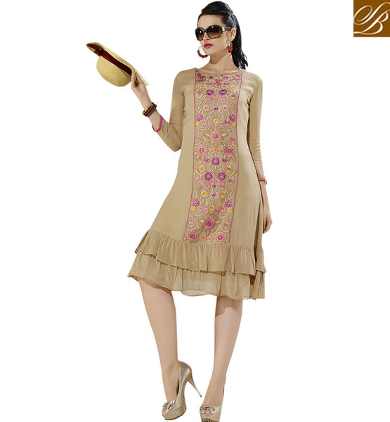 FROM THE HOUSE OF STYLISH BAZAAR EXQUISITE PARTY WEAR KURTI DESIGN VDSCH3018