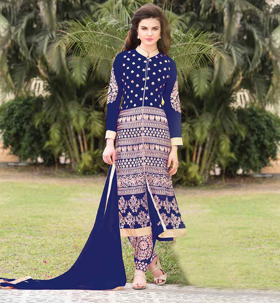 SALWAR KAMEEZ SHOPPING FAST SHIPPING WORLDWIDE STUNNING STYLE GEORGETTE DRESS WITH SANTOON SALWAR AND CHIFFON DUPATA