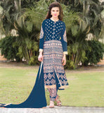 SALWAR KAMEEZ SHOPPING FREE SHIPPING IN INDIA  ATTRACTIVE STYLE STRAIGHT CUT FASHION TOP WITH SANTOON SALWAR AND CHIFFON DUPATA