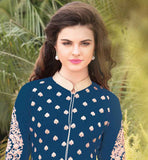 ATTRACTIVE STYLE STRAIGHT CUT FASHION TOP WITH SANTOON SALWAR AND CHIFFON DUPATA Wear this superb dress with embroidered design on salwar, sleeves and all over the