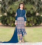 PARTY WEAR SALWAR KAMEEZ SHOPPING LOVELY FASHION GEORGETTE DRESS WITH SANTOON SALWAR AND CHIFFON DUPATA