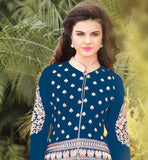 LOVELY FASHION GEORGETTE DRESS WITH SANTOON SALWAR AND CHIFFON DUPATA Wear this superb dress with embroidered design on salwar, sleeves and all over the Kameez