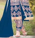 Wear this superb dress with embroidered design on salwar, sleeves and all over the Kameez PARTY WEAR SALWAR KAMEEZ SHOPPING RTJAN302BL