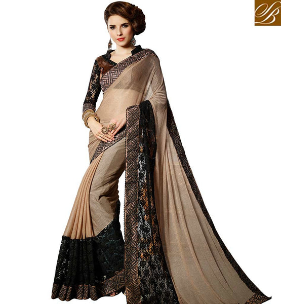 FROM STYLISH BAZAAR EXQUISITELY DESIGNED EMBROIDERED SAREE FOR PARTIES VDMNY303