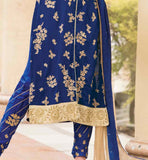 party wear indian kurti with embroidred salwar