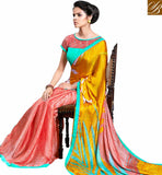 FROM STYLISH BAZAAR ALLURING PRINTED SARI DESIGN FOR PARTIES RTMEN304