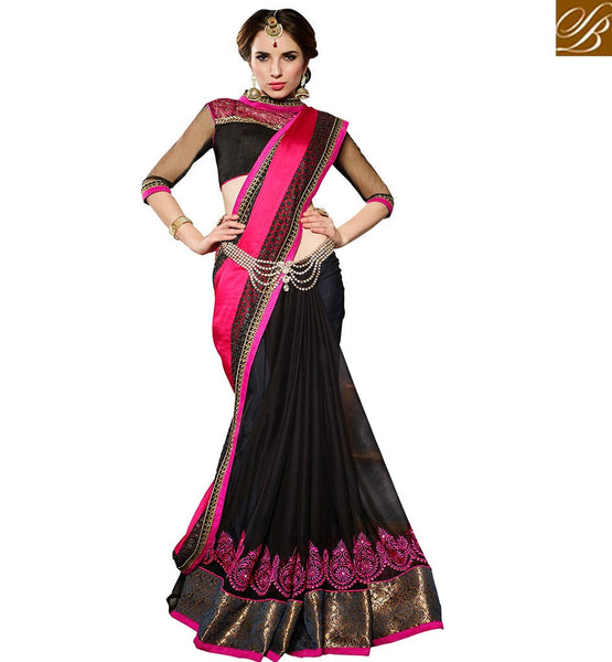 BROUGHT TO YOU BY STYLISH BAZAAR SUPERB DESIGNER PARTY WEAR SARI BLOUSE DESIGN VDMNY304