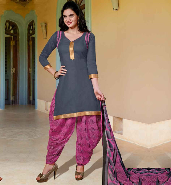STYLISH PUNJABI SUIT DESIGN OF PATIALA SALWAR KAMEEZ FOR GIRLS
