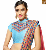 GOOD-LOOKING EMBROIDERED PARTY WEAR SAREE DESIGN HAW305 BY SKY BLUE
